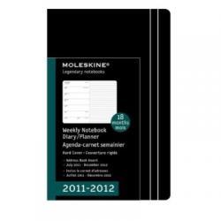 MOLESKINE DIARY LARGE BLACK HARD COVER kalendarz 2011-2012 18 miesięcy czarny twarda okładka 13x21