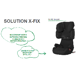Fotelik Cybex Solution X-FIX (PURE BLACK)