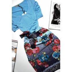 Sukienka KWIATY Folkowa KWIATKI Vintage  BUFKI