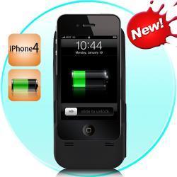 iPhone 4 bateria słoneczna ładowarka + Holder (2400mAh)