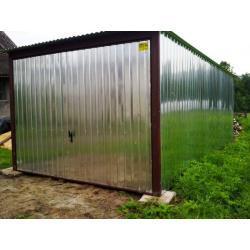 Garaż blaszany 3x5 z bramą ucylną I gatunek