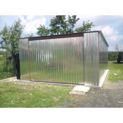 Garaż blaszany 4x5 ocynkowany I gatunek
