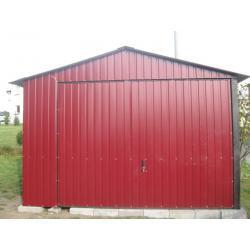 Garaż blaszany 3,5x5 akrylowy + brama podnoszona (uchylna)