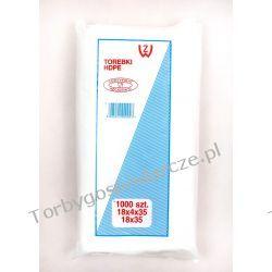 Torebki woreczki foliowe hdpe, wyciągane 18x35 cm 1000 szt.  Woreczki i torby foliowe
