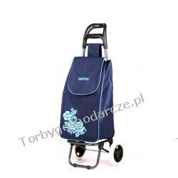 Wózek na zakupy Flower granat Woreczki i torby foliowe