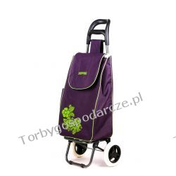 Wózek na zakupy Flower fioletowy Woreczki i torby foliowe
