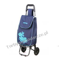 Wózek na zakupy Flower granat/średni Galanteria i dodatki
