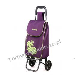 Wózek na zakupy Flower fiolet/średni