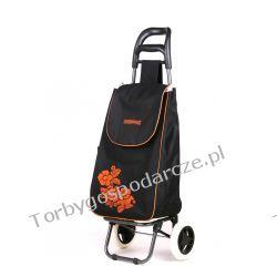 Wózek na zakupy Flower czarny Torby i walizki