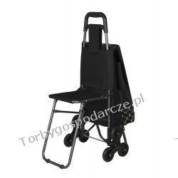 Wózek na zakupy z potrójnymi kołami z siedzeniem 3K-S05 Galanteria i dodatki