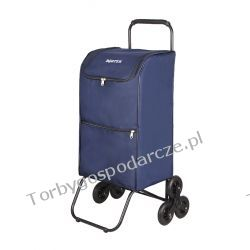 Schodowy wózek na zakupy, transportowy, składany Boster XXL 3k Woreczki i torby foliowe