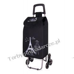 Wózek na zakupy z potrójnymi kołami  3K Paris Woreczki i torby foliowe