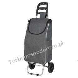 Wózek na zakupy, aluminiowy, gumowe koła