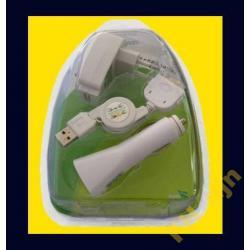 ZESTAW APPLE iPhone iPod - kabel USB +2 ładowarki