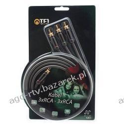 Firmowy kabel COAXIAL 3x RCA - 3x RCA Cinch GOLD
