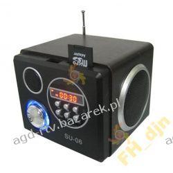 6w1 MP3 z GŁOŚNIKAMI + RADIO SD USB ZEGAR BUDZIK