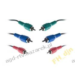 Kabel 3 x Cinch - 3 x Chinch RGB Component 0,5m