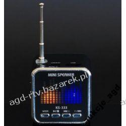 MINI GŁOŚNIK RADIO ODTWARZACZ MP3 USB mikroSD