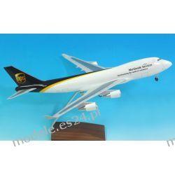 Model Boeing 747-200F UPS 1:200 3 wersja, podwozie, drewniana podstawka