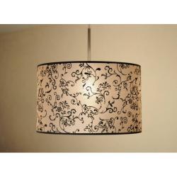 Lampa wisząca FLORENCJA - dekor czarny śr. 40 cm