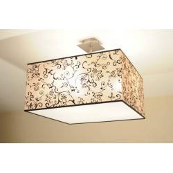 Lampa plafon  FLORENCJA 3 kwadrat beż + osłona