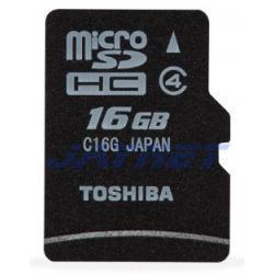 TOSHIBA 16GB karta micro SDHC 16 GB Class 4 +ad SD