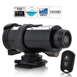 Sportowa kamera POSEIDON HD 720P (na kask, rower, motocykl)