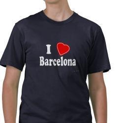 Koszulka męska I love Barcelona