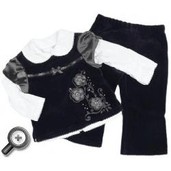 Komplet bluzka, kamizelka i spodenki Nataszka