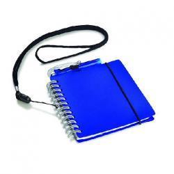Notatnik mały ze smyczką oraz długopisem