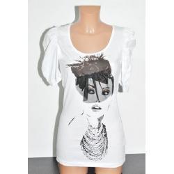 Koszulka Blanco dziewczyna z woalką biała