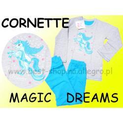 Piżama długi rękaw Cornette PRINCES turkus 122/128
