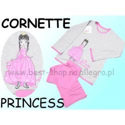 Piżama długi rękaw Cornette PRINCES róż/po 122/128