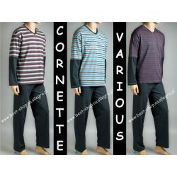 CORNETTE piżama męska Various 130 w serek -L-