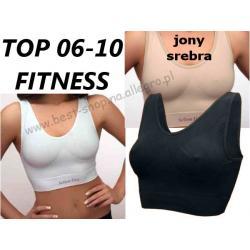 Top/Biustonosz fitness Hanna jony srebra 06-10 XXL