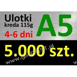 Ulotki A5 nakład 5000 szt., papier kredowy 115g