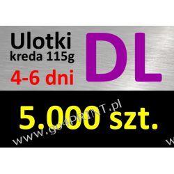 Ulotki DL nakład 5000 szt., papier kredowy 115g