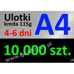 Ulotki A4 nakład 10000 szt., papier kredowy 115g