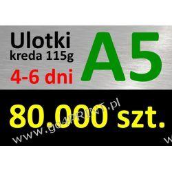 Ulotki A5 nakład 80000 szt., papier kredowy 115g
