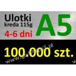 Ulotki A5 nakład 100000 szt., papier kredowy 115g