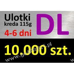 Ulotki DL nakład 10000 szt., papier kredowy 115g