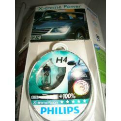PHILIPS zestaw żarówek halogenowych H4 60/55W 12V X-TREMEVISION 2szt.