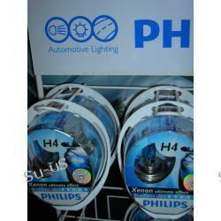 PHILIPS 2x H4 60/55W 12V BlueVisionUltra +2x W5W BlueVision 5W 12V