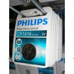 PHILIPS bateria litowa CR1616 3V lithium minicel