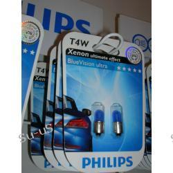 PHILIPS T4W 4W 12V Blue Vision  żarówka 1szt.