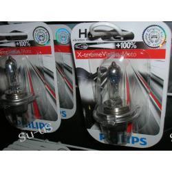 PHILIPS H4 60/55W 12V X-treme Vision Moto +100% Nowość!! żarówka halogenowa