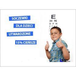 SZKŁA DLA DZIECI, SFERYCZNE (INDEKS 1.50), OBUSTRONNIE UTWARDZONE, 15% CIEŃSZE. Soczewki do okularów