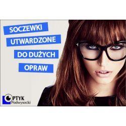 SZKŁA PLASTIKOWE DO DUŻYCH OPRAW, SFERYCZNE (INDEKS 1.50) OBUSTRONNIE UTWARDZONE. Soczewki do okularów