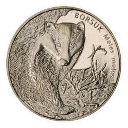 Moneta 2 zł-Borsuk 2011