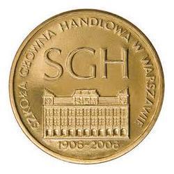 Moneta 2 zł-100-lecie SGH w Warszawie